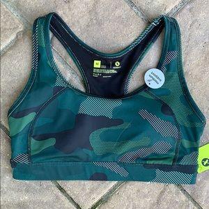 Xersion Sports Bra camouflage camo New